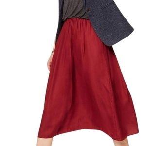 LOFT Grey & Wine Duet Mid-length Casual Maxi Dress
